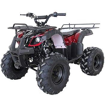 X-PRO ATV 4 wheelers for Sale 125cc ATV Quad Four Wheelers Youth ATV 4 wheelers with Remote Control,Big 16   Tires Burgundy
