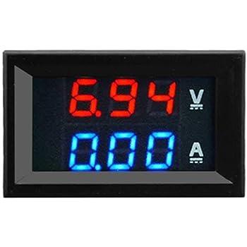 Superb Technologies CT-VA 100V 10A Dc Dual Led Red and Blue Digital Voltmeter Ammeter Monitor Panel