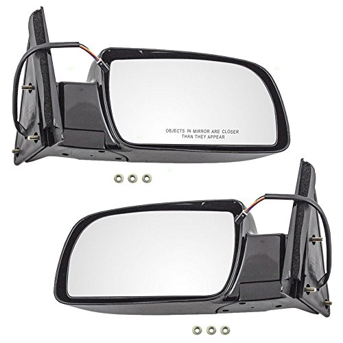 Aftermarket Replacement Driver and Passenger Pair Power Side View Mirrors Standard Type with Plastic Base Compatible with 88-99 C/K Old Body Style Pickup Truck