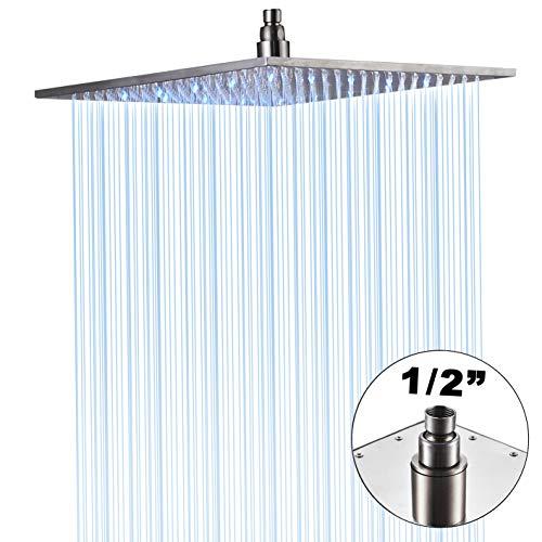 Suguword LED Farben Regendusche Kopf Wasserhahn Top Dusche Sprayer 16