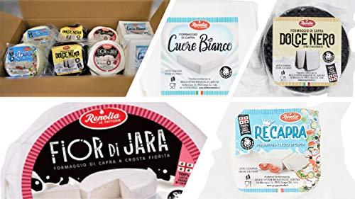 Selezione Formaggi di Capra Le Fattorie Renolia - Box degustazione 'Le Formaggelle'(8 caciottine)...
