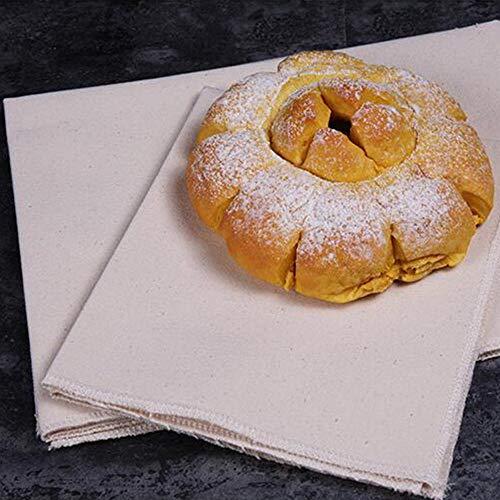CLOUD Bäckertuch Natürliche Baumwolle Gebäckschutztuch Professionelles Baguette Fermentation Tuch Brot Proofing-Tuch (2 Stück) S Size 36x45cm