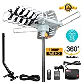 AILUKI Outdoor HDTV Antenna (150 Miles Antenna with Pole)