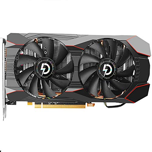 Game Graphics Card,High Performance Rx 580 Gaming 8G Graphics Card, 2X Windforce Fans, 8GB 256-Bit GDDR5, 8GD Video Card,Support HDMI, 3DP