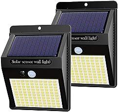 Hepside Luz Solar Exterior,Luces LED Solares para Exteriores, 800 Lumens Focos LED Exterior Solares, Luces de Seguridad...