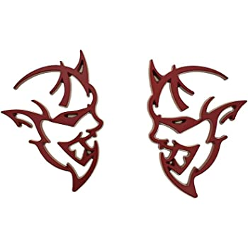 Auggies Pair 2 Custom Hellephant Hemi 426 Super Angry SRT Fender Side Emblem Badges For Challenger Charger Gift Matte Black