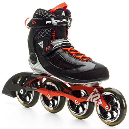 K2 Skate Radical 100 Racing Inline Skates, Black/Copper, 10 by K2 Skate