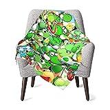 ASQWG Yoshi Baby Blanket Ultra Soft Throw Blanket Flannel Fleece Blankets for Babies Crib Stroller 30 X 40 Inch