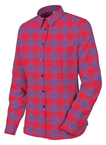 Salewa Puez Flannel Pl M L/S SRT - Chemise à Manches Longues pour Homme, Couleur Rouge, Taille 48/M