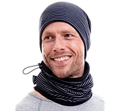 Bandana para Proteger la Cara Bufanda de Tubo 100/% forro polar Hilltop Bufanda con Forro Polar Multiusos Braga de Cuello para Oto/ño e Invierno Cuello con Cordones M/áscara de Motorista