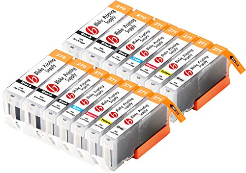 Blake Printing Supply Compatible Ink Cartridge Replacement for Canon PGI-270XL, CLI-271XL, Canon 271, Canon 270 (Pigment Black, Black, Cyan, Magenta, Yellow, Gray, 14-Pack)