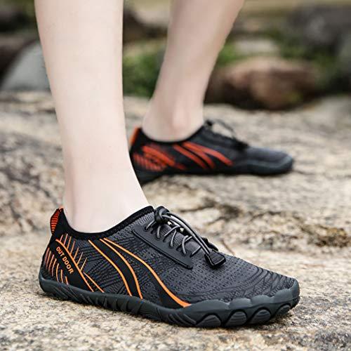 DATOU Zapatos Running Minimalista Los Hombres Descalzos para Hombres Descalzos Zapatos Agua de Secado Rápido Antideslizantes(Size:42,Color:4)