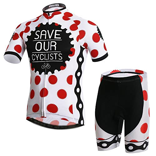 GONGMICF Maillot Ciclismo Corto de Verano para Hombre,Ropa Ciclismo,Anti-UV Jersey + 3D...