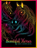 Stress-Relieving Horse Adult Coloring Book For Women: Color With...