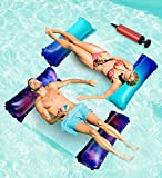 2-Packs Floats for Lake Floating - 4-in-1 Lake Floats with Air Pump,Multi-Purpose Pool Float,Pool Hammock,Saddle,Lounger,Chair, Pool floaties,Pool Raft,Lake Floats for Swimming Pool Floats Adult Size