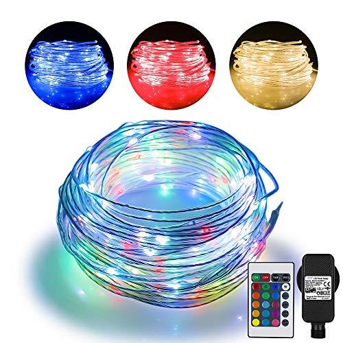 20m LED Schlauch Lichterkette Außen, Lichtschlauch mit 200 LED, 16 Farben 4 Modi Wasserdicht Lichterschlauch Outdoor mit Stecker für Thanksgiving, Weihnachten, Weihnachtsbaum, Garten, Terrasse, Balkon