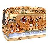 Bolsa de maquillaje portátil con cremallera bolsa de aseo de viaje para las mujeres práctico almacenamiento cosmético bolsa primitiva cavernícolas