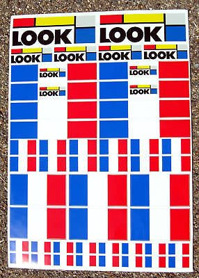 LOOK Cycle Vélo Cadre Stickers Autocollant cyclisme MTB Road