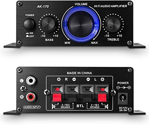 アンプ パワーアンプ 小型 2チャンネル 高音質 家庭用 HI-FIステレオ
