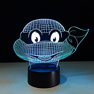 Teenage Mutant Ninja Turtles 7 Colors Changing Night Light Lamps 3D Touch Night Light Kids New Year Gift for Kids