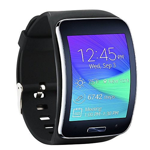 Fit-power Samsung Galaxy Gear S R750 Pulsera de repuesto de reloj inteligente inalámbrico con hebilla de seguridad, Pack of 4D