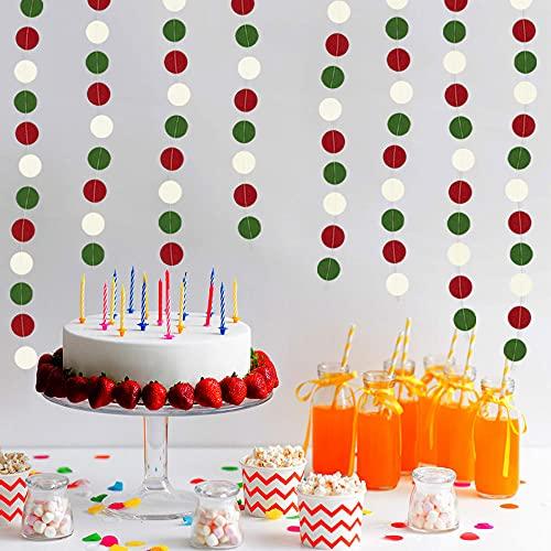 10Packs Colorful Disc Decoration Pendant Garland Pendant Pendant Wedding Party Christmas Decoration Garland 2M Per Pack
