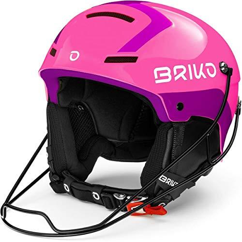 Briko Slalom Skihelm für Erwachsene, Unisex, Shiny Pink Violett, Medium