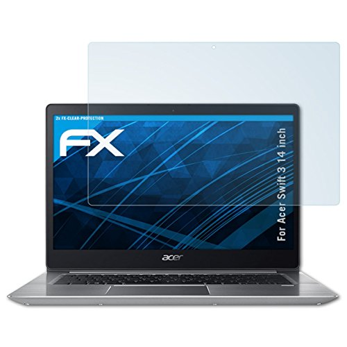 atFolix Schutzfolie kompatibel mit Acer Swift 3 14 inch Folie, ultraklare FX Bildschirmschutzfolie (2X)