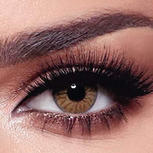 """Bella - 5 Paar Natürliche farbige Tageslinsen (stark deckend) ohne Stärke Farbe """"One Day Radiant Hazelnut"""