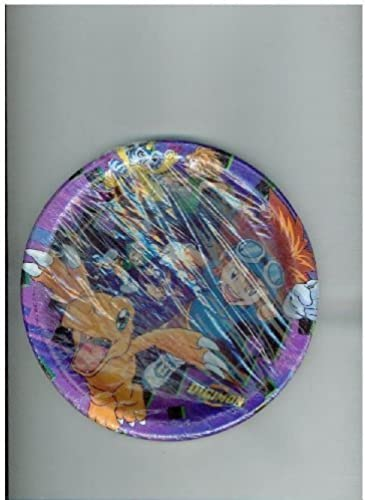 Digimon Monsters, 8 Plates Dessert, Fox Kids by Party Express