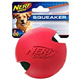 Nerf Dog Rubber Wrapped Tennis Ball, 3-Inch, Red