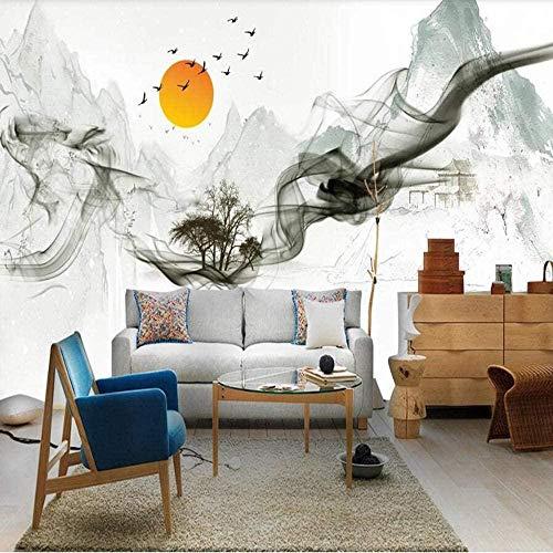VGFGI Moderno 3D autoadhesivo PVC moderno pintado a mano arte de flores y pájaros para decoración del hogar papel tapiz de vinilo