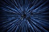 Speed of Light Jump Lightspeed Stars Blurred Streaking Outer Space Cool Huge Large Giant Poster Art 54x36