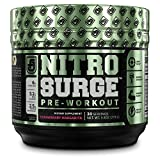 NITROSURGE Pre Workout Supplement - Energy Booster, Instant Strength Gains, Clear Focus, Intense Pumps - Nitric Oxide Booster & Powerful Preworkout Energy Powder - 30 Servings, Strawberry Margarita
