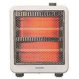 アイリスオーヤマ 電気ストーブ 速暖 転倒時電源OFF 400W/800W 2段階切替 軽量 EHT-800W ホワイト