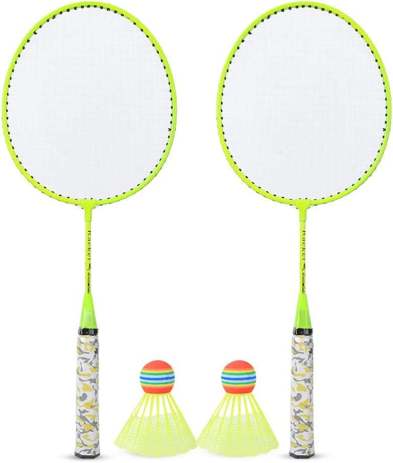 Badminton Max 77% OFF Racket Set Racquet with 2 S Charlotte Mall Balls