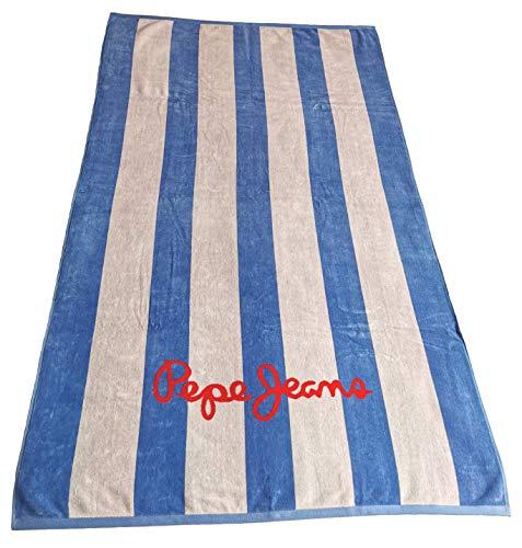 """Pepe Jeans Toalla de playa """"Leah"""", ajuste ultra azul (542), fabricada en Portugal, 164 x 100 cm, PLH10031"""