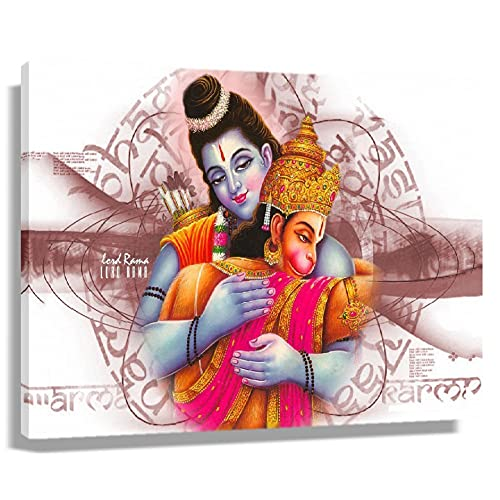 Hanuman Hindu Mythology Poster Modern Room Decorations Picture Prints for Bathroom Wall Canvas Art for Bedroom Horizontal Painting Oil Decorative Artwork for Kitchen Canvas Pics Giclee Poster (45x30cm(18x12inch),Unframed)