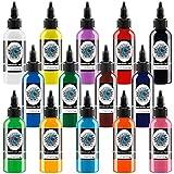 14Pcs Tattoo Ink Set 1 oz 30ml/Bottle Tattoo Inks Pigment...