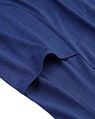 KIDSFORM Women's Long Hoodies Sweatshirt Pullovers Ladies Long Sleeve Plain Hooded Jumper Dresses Loose Hoodies Long Tops with Pocket Hoodie-Blue Size 2XL/UK 20 #4