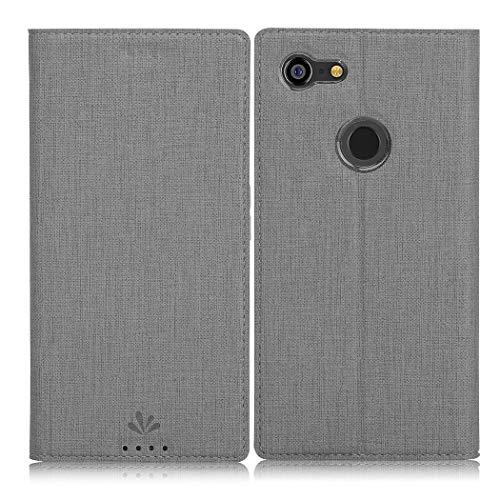 Eastcoo Google Pixel 3A XL Hülle,Pixel 3A XL Wallet Handyhülle PU Leder Flip Hülle Tasche Cover Schutzhülle mit [Standfunktion][Magnetic Closure][Card Slots] für Google Pixel 3A XL Smartphone,grau
