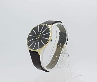 ساعة يد للنساء من ماركة نيو فاندي, حزام اليد مصنوع من الجلد الأسود