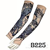 tzxdbh Mangas de Tatuaje de Hielo Mangas de Tatuaje de Seda de Hielo Real Protección Solar Manga de Hielo de protección UV