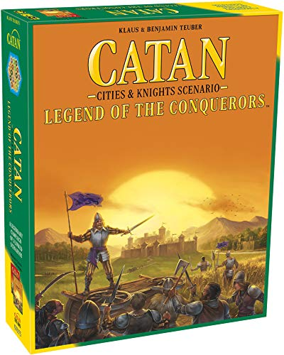 CATAN Legend of The Conquerors Scenario for CATAN Cities and Knights Board Game Expansion | Family Board Game | Adventure Board Game | Ages 12+ | for 3 to 4 Players | Made by Catan Studio