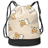 PmseK Turnbeutel,Kordelzug Rucksack Corgi Butt Heart Corgi Drawstring Backpack Bags Shoulder Bags