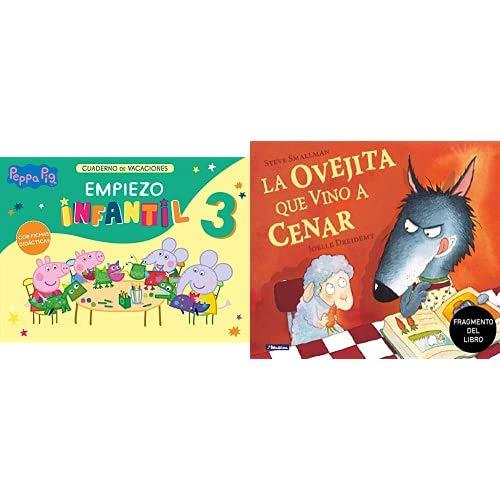Peppa Pig. Cuaderno de vacaciones: Empiezo Infantil 3 años + Promoción fragmento del libro La ovejita que vino a cenar. Edición especial no venal