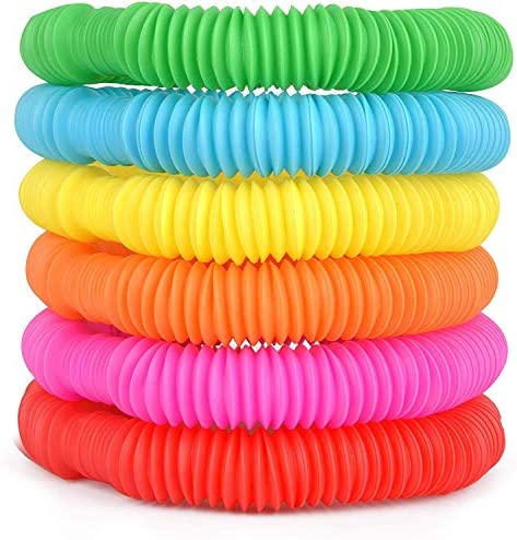 Special Supplies 30 Pack Fun Pull and Pop Tubes for Kids Stretch Bend Build and Connect Toy product image