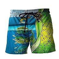 3Dベース釣りの男性のクールなボードショーツ水泳トランク男の子のビーチショーツポケット付き,J,XXL
