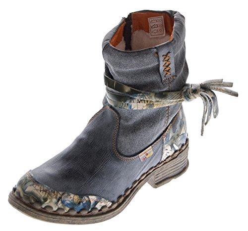 Leder Damen Winter Stiefeletten Comfort Boots Knöchel Schuhe Schwarz TMA 5050 gefüttert Gr. 39