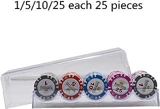 Zhou Yunshan Uego de póker de Casino Sala de Monedas Chip de póquer Mahjong ajedrez Tarjeta de Juego Especial Integral de Moneda Personalizados Conjunto de Chips (Color : Multicolor, tamaño : Size1)